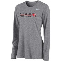 Lincoln Youth Football 15: Nike Women's Legend Long-Sleeve Training Top - Gray