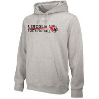 Lincoln Youth Football 18: Adult-Size - Nike Team Club Men's Fleece Training Hoodie - Gray